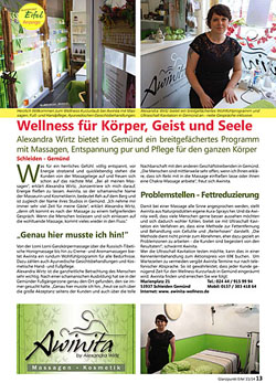 Presse - Awinita Wellness - Schleiden-Gemünd